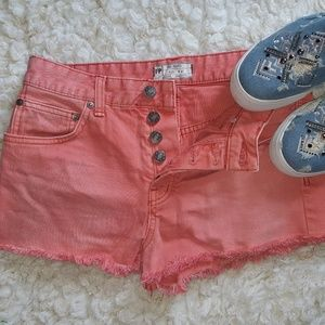 FP Free People Coral Denim 5 button